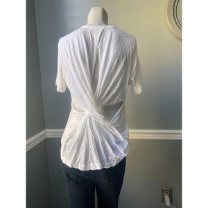ALC Size Small White Teeshirt With Open Twisted Ba